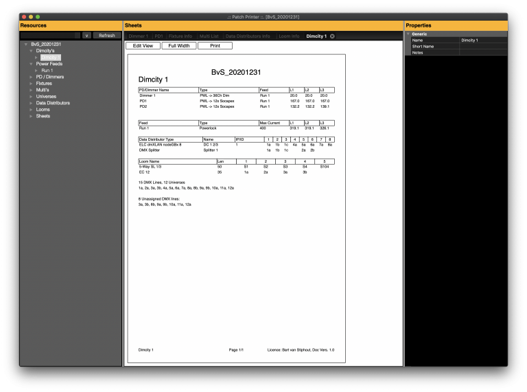 Dimcity Summary in Print Mode